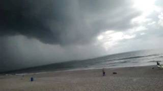 Carolina Beach Water Spout reaches shore- up close