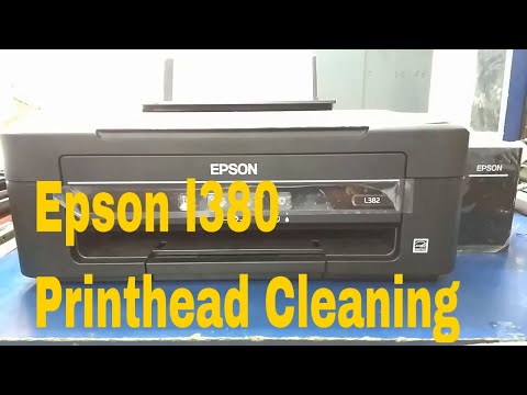 Epson l380 series printer printhead cleaning