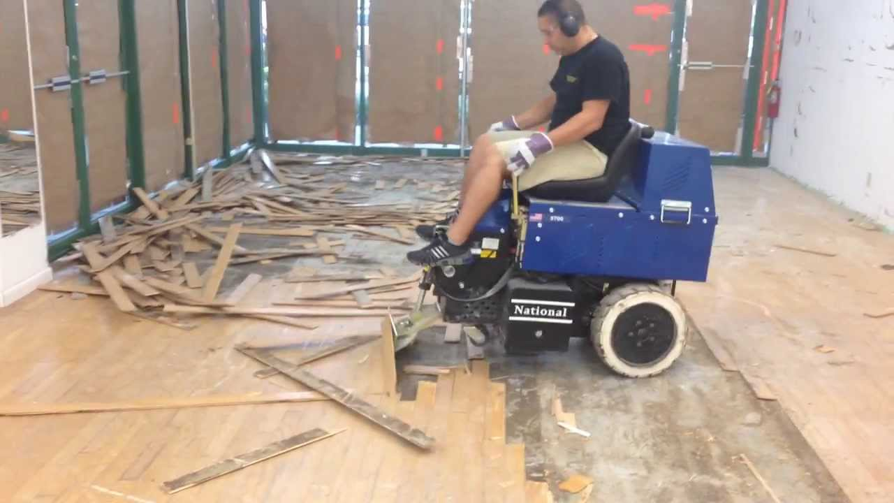 L2 Floor Care, Inc  Glued Wood Floor Removal Machine   YouTube