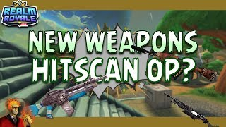 Realm Royale New Hitscan Weapons! Hitscan OP? Big EZ Damage!
