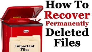 How To Recover Permanently Deleted Files In Windows 7 Without Software