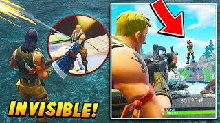 I found a GLITCH that makes me INVISIBLE for the entire game.. (Fortnite Battle Royale)