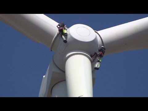 Get paid to climb wind turbines