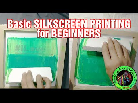Basic Silkscreen Printing for beginners | Using a paper stencil #silkscreenprinting