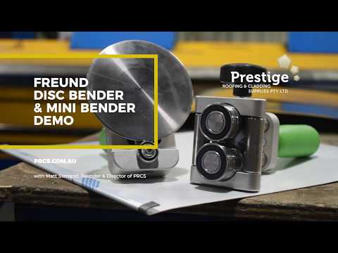 Freund Disc Bender Demo For Metal Roofing & Cladding