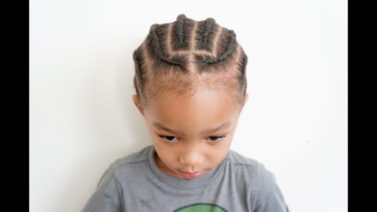 Toddler Braids On Coarse Boy Hair Tender Headed Youtube