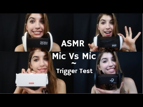 ASMR Mic VS Mic ~ Trigger Test Comparison ~ Trigger Words & Ear Play
