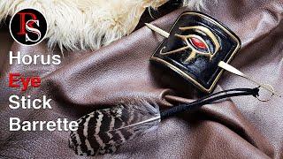 Assassin's Creed Origins Inspired Horus Eye Leather Stick Barrette / Gift for Make It Soph