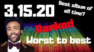 """Childish Gambino's """"3.15.20"""" ranked worst to best"""