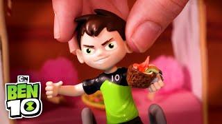 Ben 10 OVERFLOW in Conga Line! | Ben 10 Toys | Cartoon Network