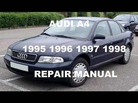 Audi A4 repair manual 1996 1997 1998