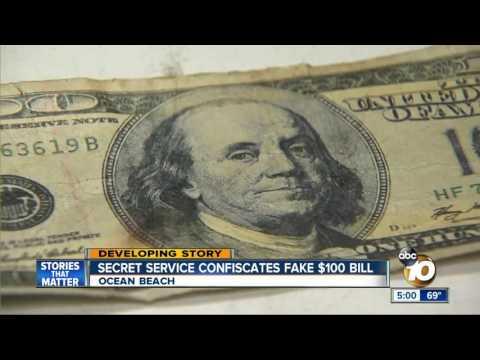 Secret Service Confiscates Fake $100 Bill