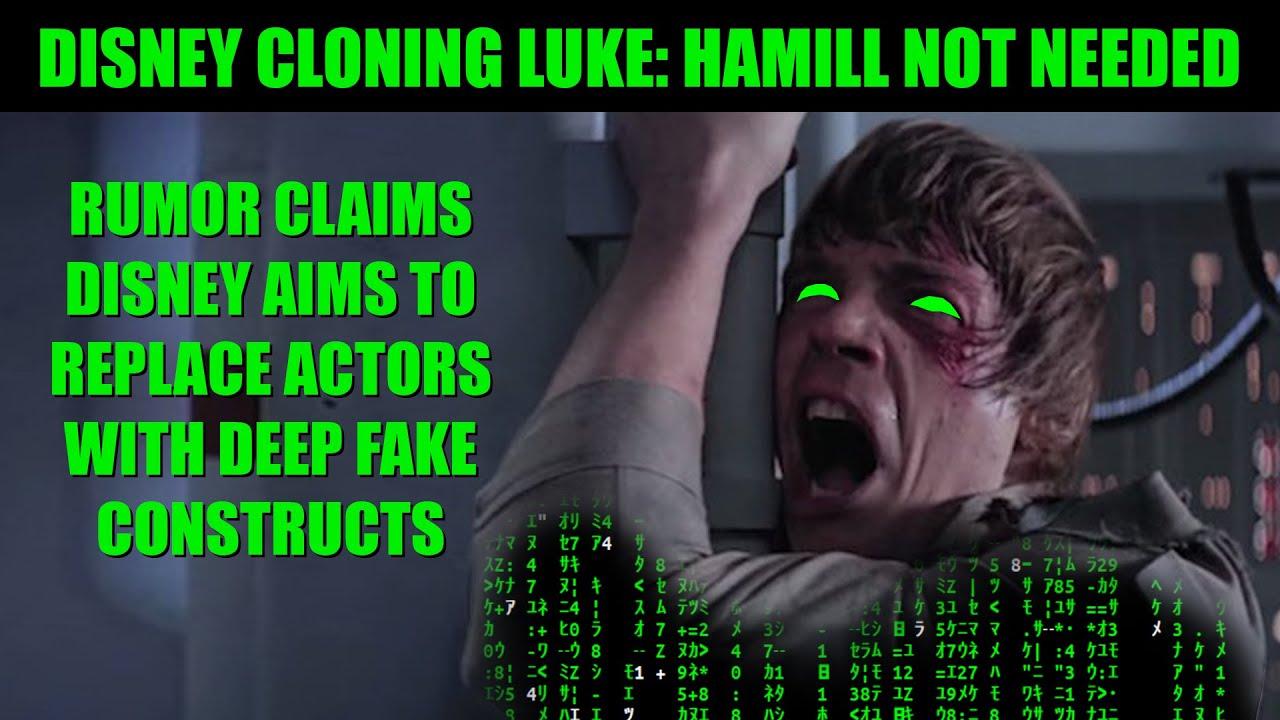 Star Wars Leak | CGI Luke to Replace Hamill as Disney Clones Actors
