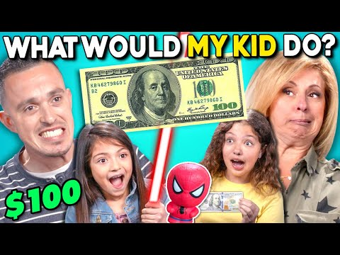 Parents Try Guessing What Their Kid Will Do With $100   What Would My Kid Do? (LEGO, Starbucks)