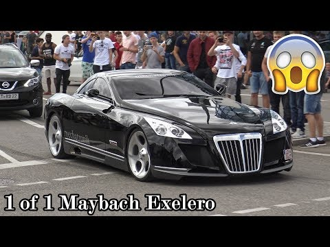 The 8 Million Dollar Maybach Exelero in Motorworld Böblingen! Great Sounds!