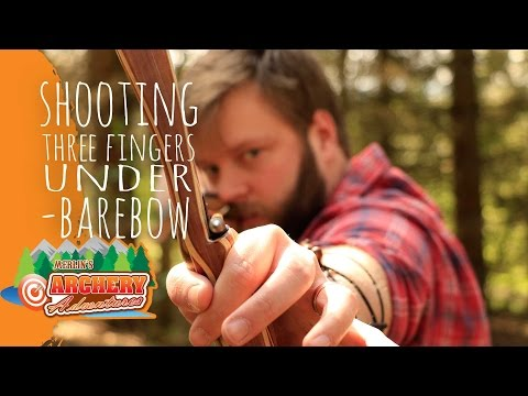 shooting three fingers under barebow archery