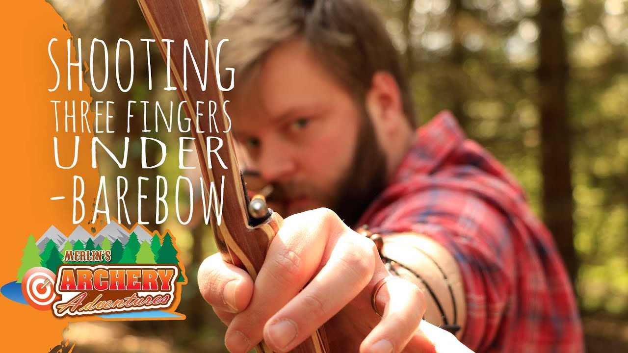 shooting three fingers under barebow archery
