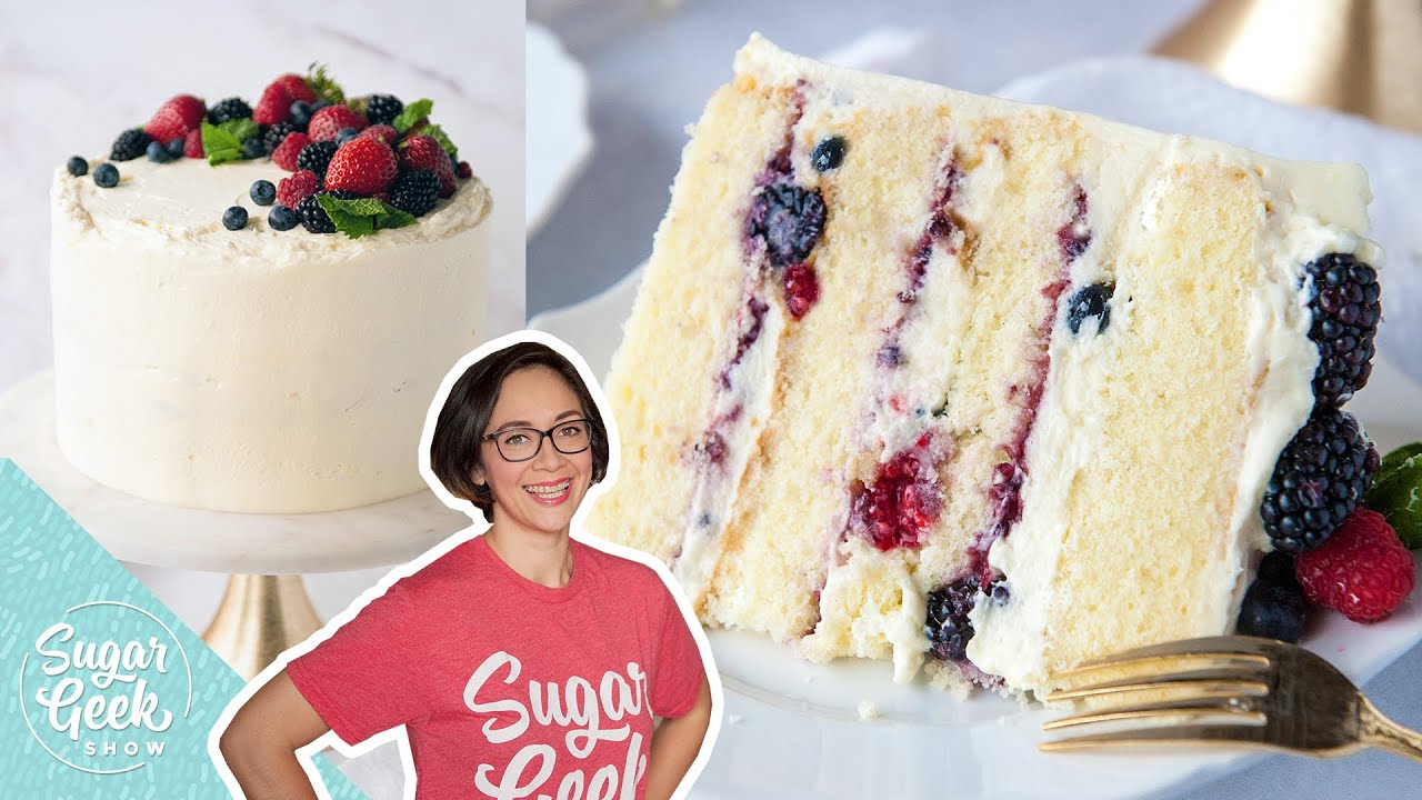 Berry Chantilly Cake With Mascarpone Cream Cheese Frosting Youtube