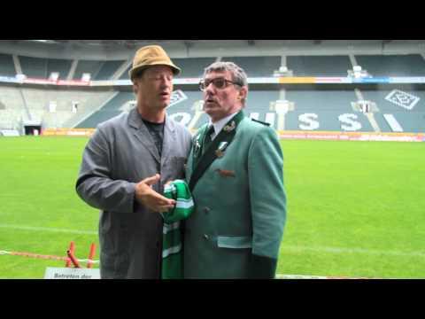 TOM GERHARDT UND DETLEV REDINGER  alias  HAUSMEISTER KRAUSE und HE- HE- HERBERT im Borussiastadion !
