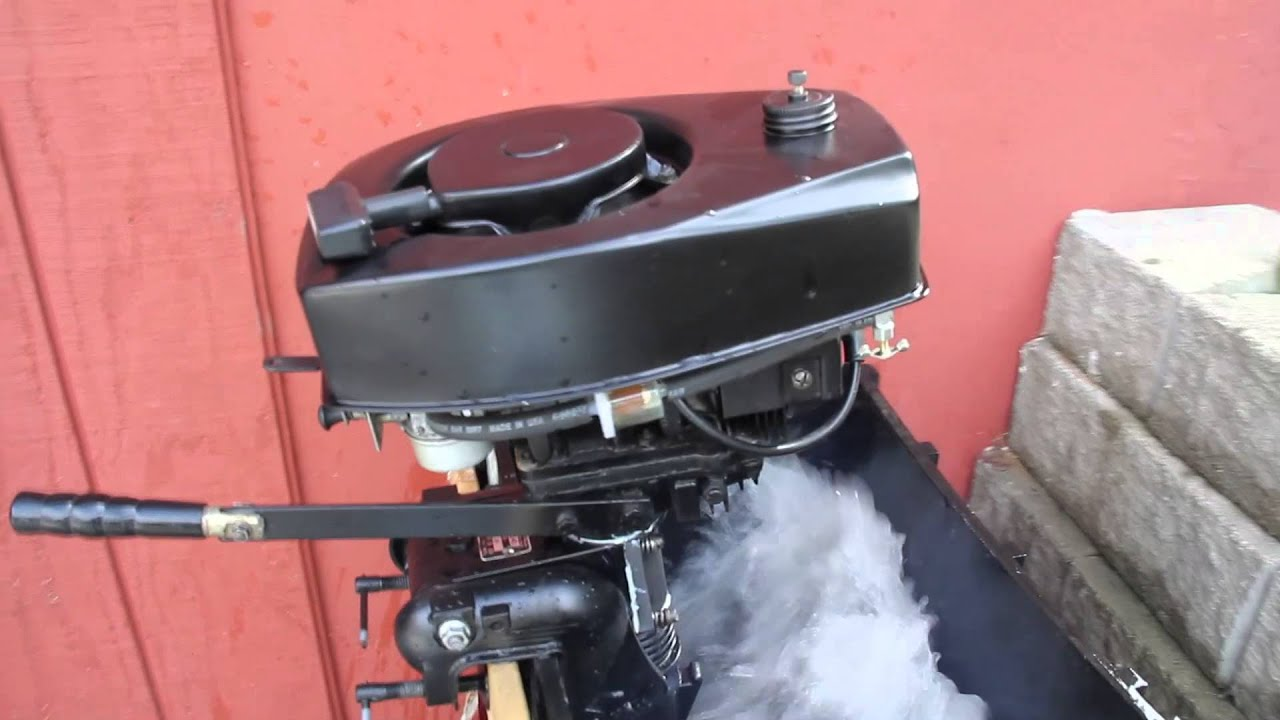 Sears 3hp outboard boat motor from 1971 youtube for Outboard motor for canoe