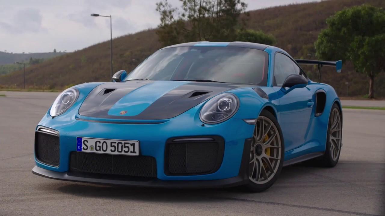 Porsche 911 GT2 RS in Miami Blue Design on riviera blue, porsche black and blue, columbia blue,