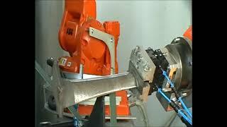 Обработка пера лопатки и измерение ее профиля