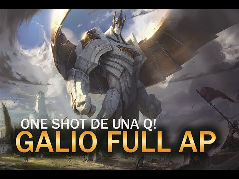 Galio FULL AP | ONE SHOT DE UNA Q! | League Of Legends