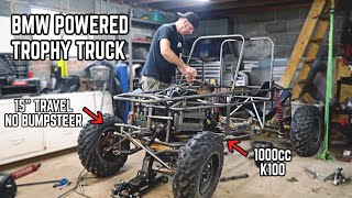 1000cc Trophy Truck Build Pt. 9 | Steering Finished!