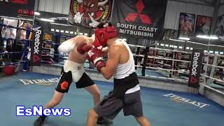 Bfly Sparring Aaron RGBA IN THE DOG HOUSE EsNews Boxing