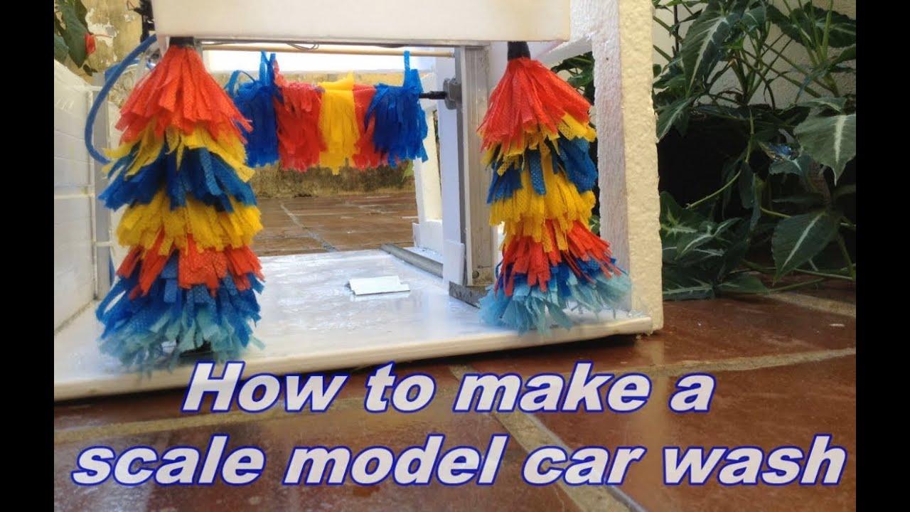 how to make a scale model car wash youtube. Black Bedroom Furniture Sets. Home Design Ideas