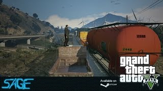 GTA V, First Person Train Jumping (PC)