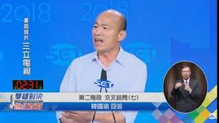 2018高雄市長辯論會/ 第二階段 陳其邁提問 (交叉詰問七)