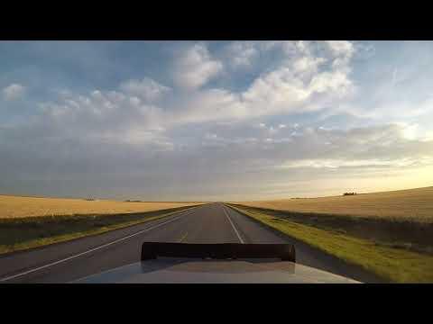 Drivelapse Canada Alberta grain delivery