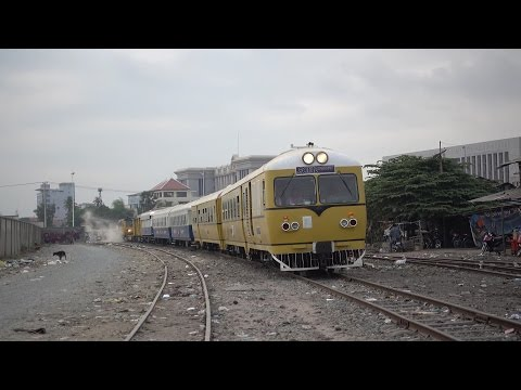 First passenger train of Cambodia Royal Railway for Khmer New Year Rail transport (2016)