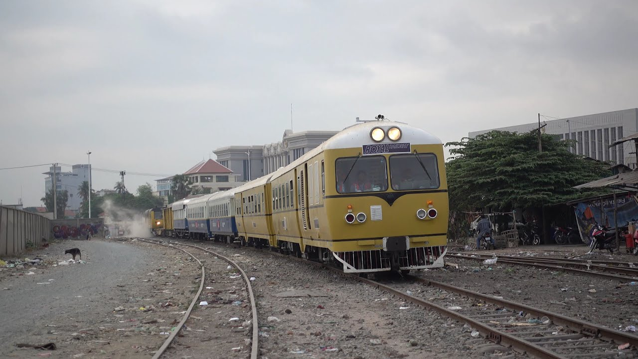 First passenger train of Cambodia Royal Railway for Khmer ...