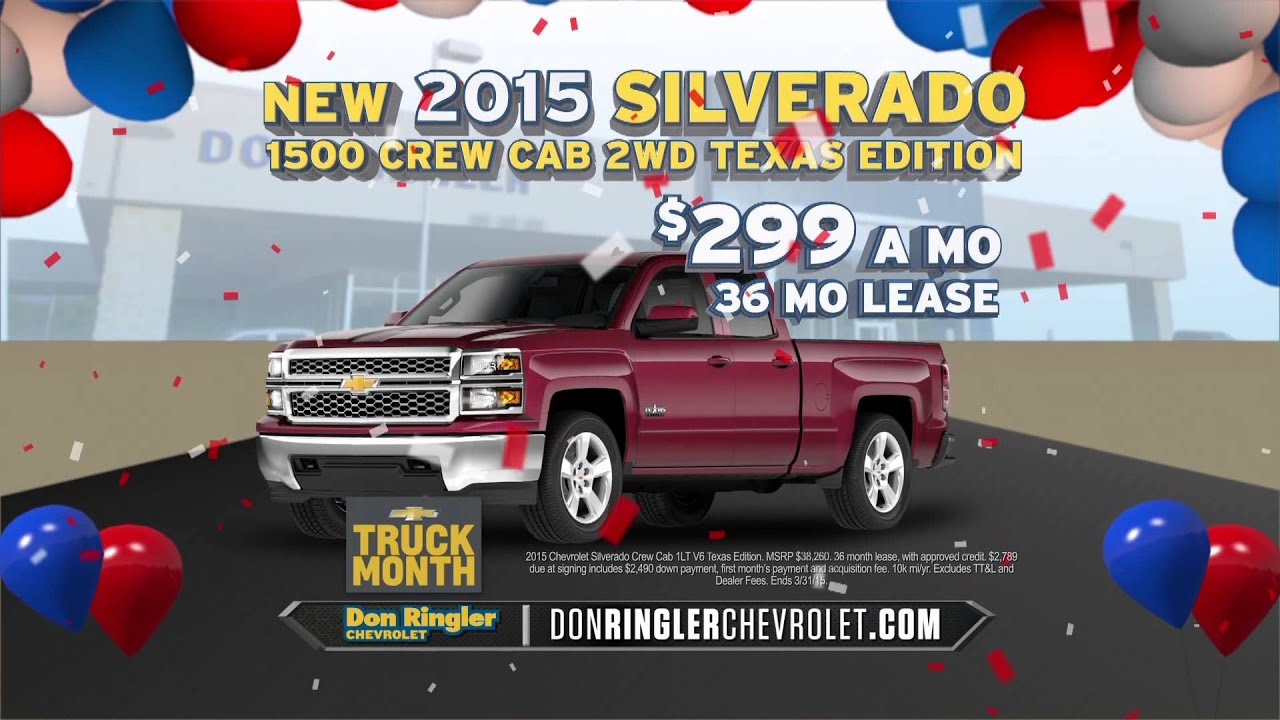 Don Ringler Chevrolet 2015 Sale A Bration 2015 Chevy Truck Month