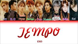 "EXO ""TEMPO"" (Sub indo) Lirik {Color Coded-Rom-Ind}"
