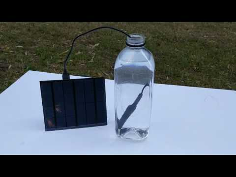 The Personal Water Purifier - USB Solar Powered Water Sterilization.