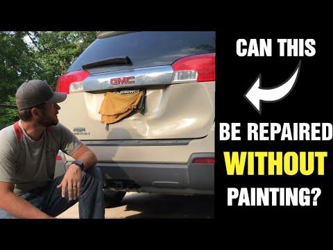 Lift Gate Repair >> Mobile Paintless Dent Repair Griffin Ga Dent Repair On A Smashed Gmc Terrain Liftgate
