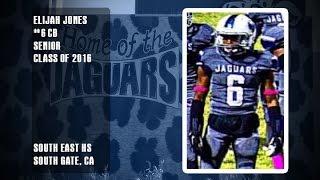 South East Jaguars Elijah Jones 2015 Senior Season Highlights