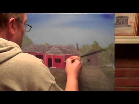 """""""Casa"""" Landscape speed painting in acrylic"""