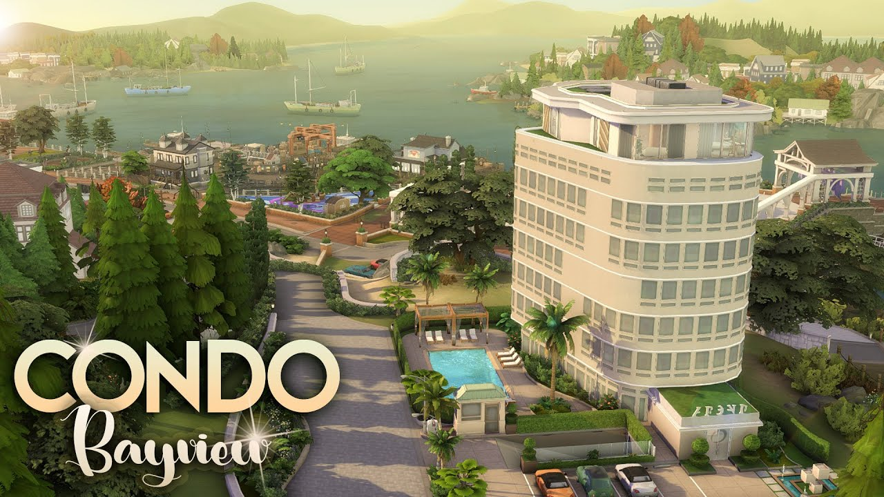 CONDO BAYVIEW [NO CC] || A family condo with great view in Brindleton Bay || The Sims 4: Speed Build