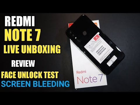 Redmi Note 7 Live Unboxing & Features Review | Bugs ?