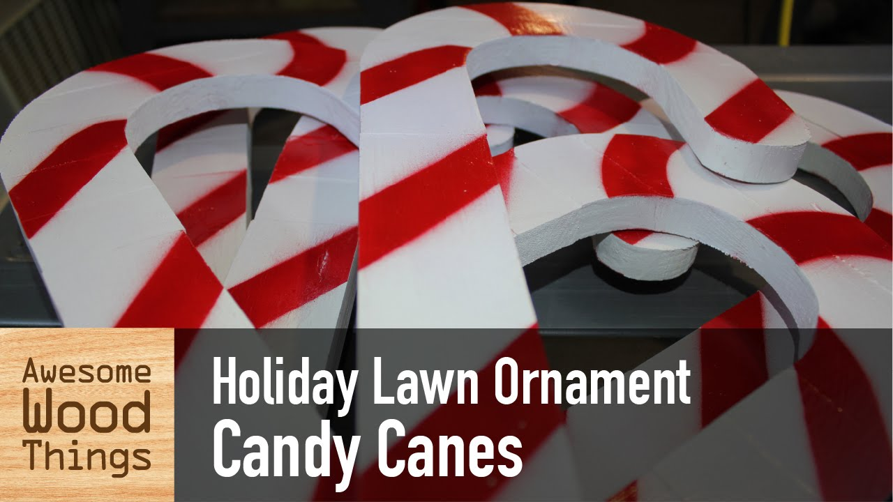 holiday lawn ornament candy canes youtube - Painted Wood Christmas Yard Decorations