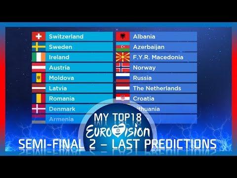 Eurovision 2019 - (Semi-Final 2) - TOP18 - Last Predictions before Rehearsals