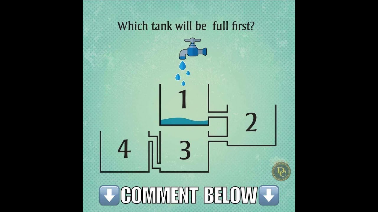 Which tank will fill up first Only 9 people can answer correctly 41