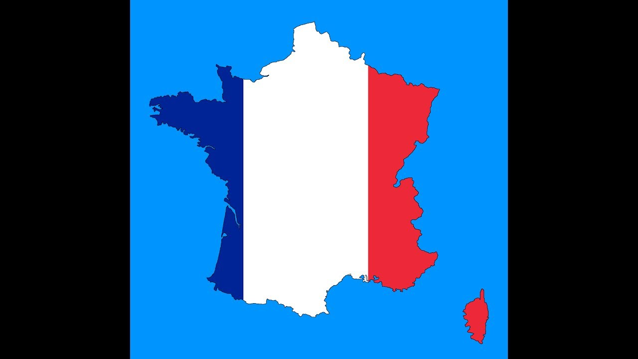 France Map Flag.Speed Draw France Flag Map Youtube