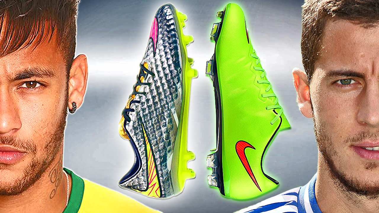neymar vs hazard boot battle nike hypervenom vs