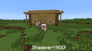 #Minecraft Machinima Sheep Love part 2 [Valentines Day Special]