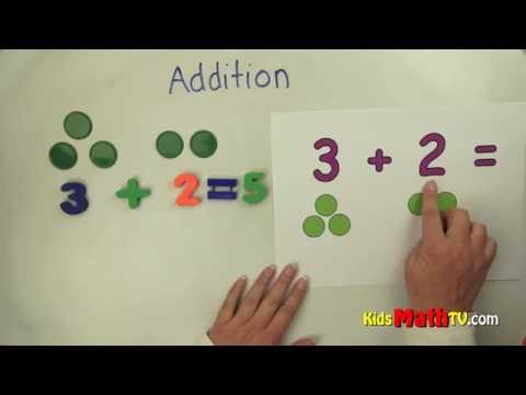 Teach Kids Basic Addition with the aid of chips and pictures - 1st grade